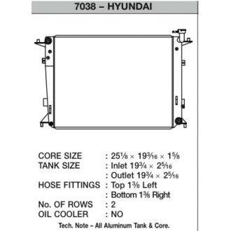 CSF Wärmetauscher Wasserkühler für Hyundai Genesis 3.8L
