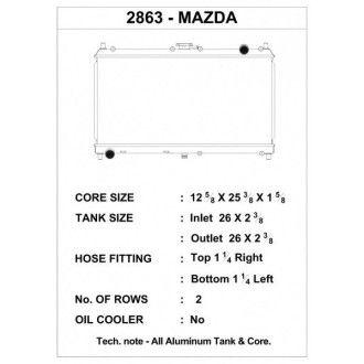 CSF Wärmetauscher Wasserkühler für Mazda Miata 1998-2005