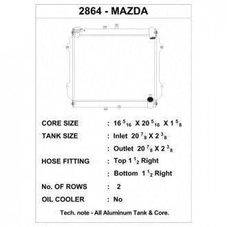 CSF Wärmetauscher Wasserkühler für Mazda RX-7 1989-1991