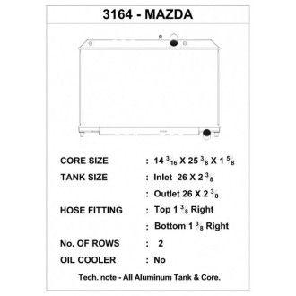 CSF Wärmetauscher Wasserkühler für Mazda RX-8 2004-2008