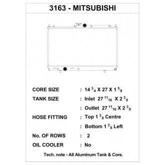 CSF Wärmetauscher Wasserkühler für Mitsubishi Lancer Evolution 7 8 9