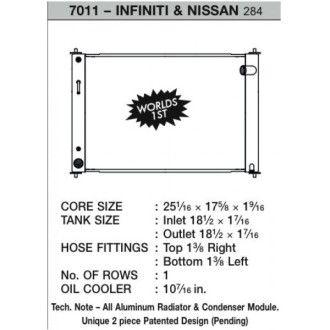 CSF Wärmetauscher Wasserkühler für Nissan 370Z 2008-2017 (Modul - Automatik)