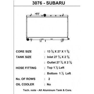 CSF Wärmetauscher Wasserkühler für Subaru Impreza WRX STI 2002-2007