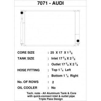 CSF Wärmetauscher Wasserkühler für Audi B5 S4 1997-2002