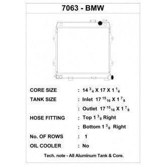 CSF Wärmetauscher Wasserkühler für BMW E30 M3