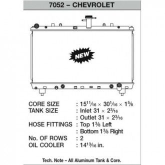 CSF Wärmetauscher Wasserkühler für Chevrolet Camaro SS V8 und 3.6L V6 2013+