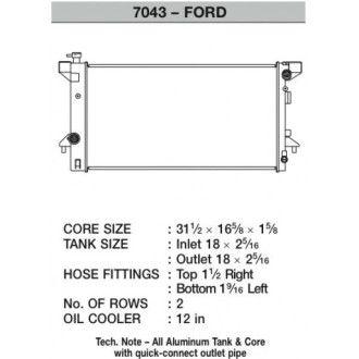 CSF Wärmetauscher Wasserkühler für Ford F-150 Raptor 2010+
