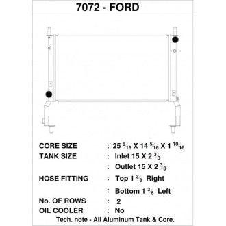 CSF Wärmetauscher Wasserkühler für Ford Mustang 2.3L Ecoboost 2015+