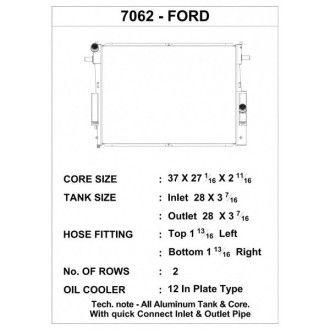 CSF Wärmetauscher Wasserkühler für Ford Super Duty 6.4L Turbo Diesel 2008-2010
