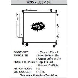 CSF Wärmetauscher Wasserkühler für Jeep Wrangler Heavy Duty 2005-2006