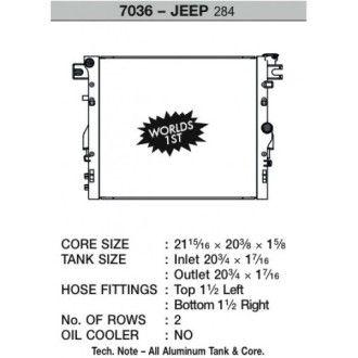 CSF Wärmetauscher Wasserkühler für Jeep Wrangler (JK) Heavy Duty 2007-2015