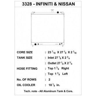 CSF Wärmetauscher Wasserkühler für Nissan Titan Armada und Infiniti QX56