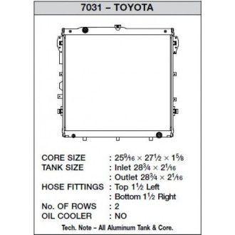 CSF Wärmetauscher Wasserkühler für Toyota Tundra V8 2007-2010