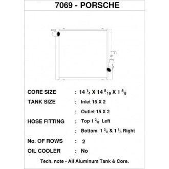CSF Wärmetauscher Wasserkühler links für Porsche 991.2 Carrera, 991 911 Turbo | GT3/RS | CUP