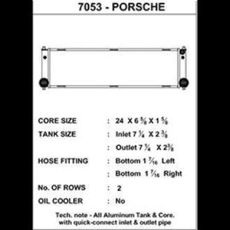 CSF Wasserkühler für Porsche 911 Turbo (996), GT2 (996 auch RS), GT3 (996 CUP & 997 auch RS), Boxster (986) RECHTS