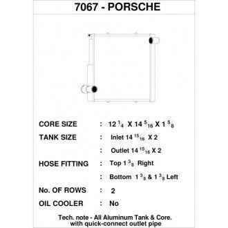 CSF Wärmetauscher Wasserkühler rechts für Porsche 911 Carrera (991.1)| Boxster (981)| GT4 | Cayman